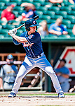 18 July 2018: New Hampshire Fisher Cats outfielder Andrew Guillotte in action against the Trenton Thunder at Northeast Delta Dental Stadium in Manchester, NH. The Thunder defeated the Fisher Cats 3-2 concluding a previous game started April 29. Mandatory Credit: Ed Wolfstein Photo *** RAW (NEF) Image File Available ***