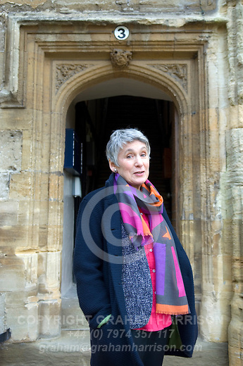 Diana Souhami at Christ Church during the Sunday Times Oxford Literary Festival, UK, 16 - 24 March 2013.<br />
