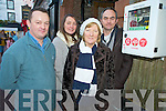 Pictured at the unveiling of the Heartsafe defibrillators in Killarney on Wednesday were Liam Shine, Siobhan and Hannah Lenihan and Martin O'Brien.