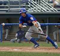 August 16, 2003:  Brad Ditter of the Vermont Expos during a game at Dwyer Stadium in Batavia, New York.  Photo by:  Mike Janes/Four Seam Images