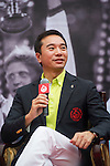 Mission Hills Vice Chairman Tenniel Chu speaks during the Press conference for the opening of Boris Becker Tennis Academy at Mission Hills Resort on 19 March 2016, in Shenzhen, China. Photo by Lucas Schifres / Power Sport Images