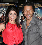 Tamsen Fadal & Corbin Bleu.attending  a screening of 'Rock Of Ages' at the Regal E-Walk Stadium Theaters in New York City on June 11, 2012.