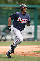 March 22nd 2008:  Barbaro Canizares of the Atlanta Braves minor league system during a Spring Training camp day at Disney's Wide World of Sports in Orlando, FL.  Photo by:  Mike Janes/Four Seam Images