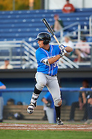 Hudson Valley Renegades first baseman Nathaniel Lowe (36) at bat during a game against the Batavia Muckdogs on August 2, 2016 at Dwyer Stadium in Batavia, New York.  Batavia defeated Hudson Valley 2-1.  (Mike Janes/Four Seam Images)