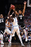 GLENDALE, AZ - APRIL 03: Theo Pinson #1 of the North Carolina Tar Heels looks to pass during the 2017 NCAA Men's Final Four National Championship game against the Gonzaga Bulldogs at University of Phoenix Stadium on April 3, 2017 in Glendale, Arizona.  (Photo by Jamie Schwaberow/NCAA Photos via Getty Images)