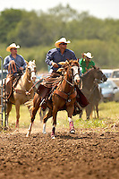 HONDO, TX - SEPTEMBER 15, 2007: The Medina County Fair Ranch Rodeo held at the Medina County Fairgrounds in Hondo, Texas. (Photo by Jeff Huehn)