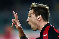 Lucas Biglia of AC Milan celebrates after scoring the goal of 0-1 <br /> Verona 9-03-2018 Stadio Bentegodi Football Serie A 2018/2019 Chievo Verona - AC Milan <br /> photo Image Sport / Insidefoto