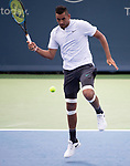 August 17,2018:   Nick Kyrgios (AUS) loses to Juan Martin del Potro (ARG) 7-6, 6-7, 6-2, at the Western & Southern Open being played at Lindner Family Tennis Center in Mason, Ohio.  ©Leslie Billman/Tennisclix/CSM
