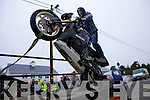 Paddy O'Sullivan from Ballybunniondisplaying his bike skills at the Mad Motorcycle Club Honda Run held last Sunday morning in Knocknagoshal.