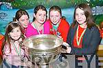 CUP: Photographed with the Sam McGuire Cup in Ballyduff National School on Friday night