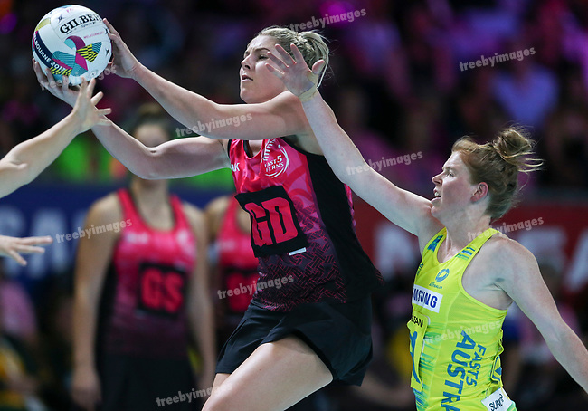 29/10/17 Fast5 2017<br /> Fast 5 Netball World Series<br /> Hisense Arena Melbourne<br /> Australia v New Zealand<br /> <br /> Storm Purvis<br /> <br /> <br /> <br /> <br /> Photo: Grant Treeby