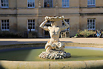 Triton sculpture fountain in courtyard of Radcliffe Primary Care building, University of Oxford, England,UK