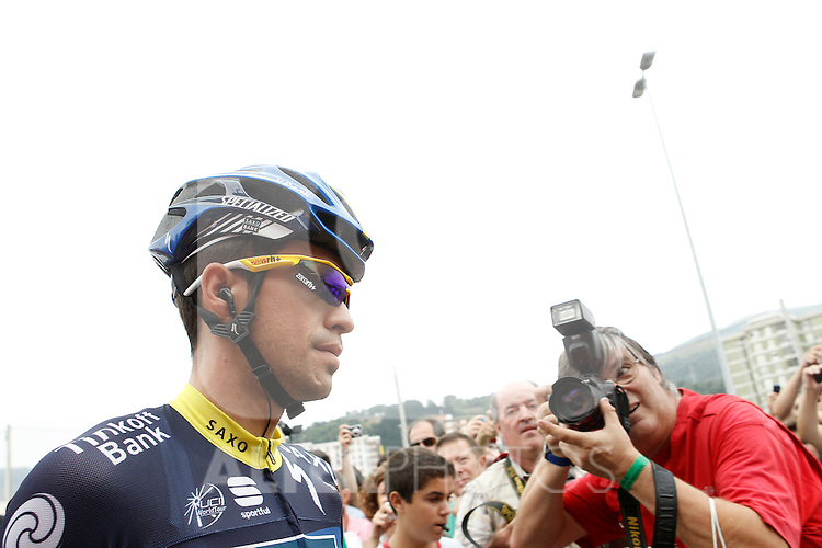 Alberto Contador during the stage of La Vuelta 2012 between Barakaldo and Valdezcaray.August 21,2012. (ALTERPHOTOS/Acero)