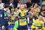 Rhein Neckar Loewe Gudjon Valur Sigurdsson (Nr.9) applaudiert in der Bildmitte beim Spiel in der Handball Bundesliga, Rhein Neckar Loewen - VfL Gummersbach.<br /> <br /> Foto &copy; PIX-Sportfotos *** Foto ist honorarpflichtig! *** Auf Anfrage in hoeherer Qualitaet/Aufloesung. Belegexemplar erbeten. Veroeffentlichung ausschliesslich fuer journalistisch-publizistische Zwecke. For editorial use only.