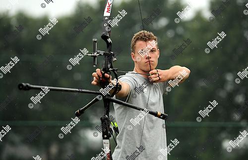 2014-08-08 / Boogschieten / seizoen 2014 / Rick Martens vertrekt binnenkort naar de jeugd Olympische Spelen in China<br /><br />Foto: mpics.be