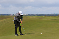 Matias Honkala (FIN) on the 4th green during Round 1 of the The Amateur Championship 2019 at The Island Golf Club, Co. Dublin on Monday 17th June 2019.<br /> Picture:  Thos Caffrey / Golffile<br /> <br /> All photo usage must carry mandatory copyright credit (© Golffile | Thos Caffrey)