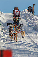 Blair Braverman on Cordova St. hill during the Anchorage start day of Iditarod 2018 on Cordova St. hill during the Anchorage start day of Iditarod 2019