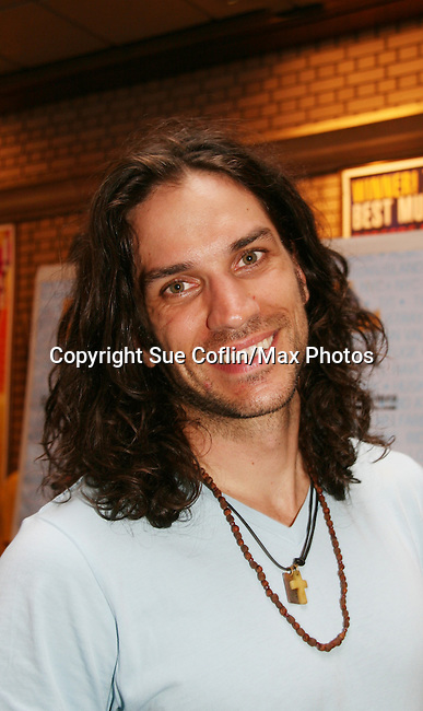 """HAIR cast - Will Swenson at Broadway Barks 11 - a """"Pawpular"""" star-studded dog and cat adopt-a-thon on July 11, 2009 in Shubert Alley, New York City, NY. (Photo by Sue Coflin/Max Photos)"""
