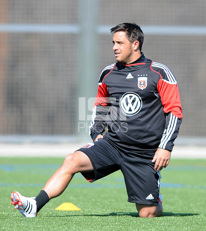 D.C. United midfeilder Danny Cruz (2) During the first training session after returning from Arizona, at Long Bridge Park in Arlington Virginia, Monday February 20, 2012.