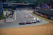17th June 2017, Le mans, France; WEC 24 Hours of Le Mans endurance race;  #7 TOYOTA GAZOO RACING (JPN) TOYOTA TS050 HYBRID LMP1 MIKE CONWAY (GBR) KAMUI KOBAYASHI (JPN) STEPHANE SARRAZIN (FRA)go into the first corner of the race off the grid