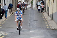 Polka Dot Jersey / KOM leader Geoffrey Bouchard (FRA/AG2R La Mondiale) at the stage start<br /> <br /> Stage 20: Arenas de San Pedro to Plataforma de Gredos (190km)<br /> La Vuelta 2019<br /> <br /> ©kramon