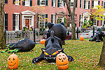 Halloween on Beacon Hill, Boston, Massachusetts, USA