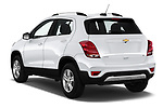 Car pictures of rear three quarter view of a 2019 Chevrolet Trax LT 5 Door SUV angular rear