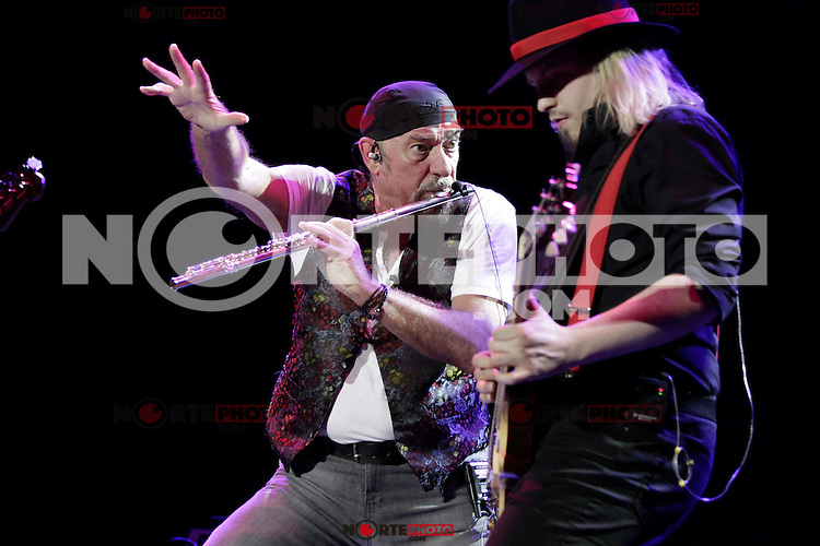 Guitar player Florian Opahle, singer and flute player Ian Anderson during a concert of the Thick as a brick tour at the Tempodrom, Berlin, Germany, 20.05.2012...Credit: Scherf/face to face /MediaPunch Inc. ***FOR USA ONLY***