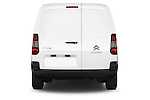 Straight rear view of a 2015 Citroen BERLINGO 1.6 VT 4 Door Car Van Rear View  stock images