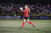 Allston, MA - Sunday, May 22, 2016: Boston Breakers goalkeeper Libby Stout (1) applauds the crowd after a regular season National Women's Soccer League (NWSL) match at Jordan Field.