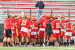 Mission Viejo, CA 05/14/11 - The Mission Viejo team huddles during a time out during the Division 2 US Lacrosse / CIF Southern Section Championship game between Mission Viejo and Loyola at Redondo Union High School.