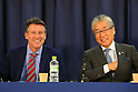(L to R)  Sebastian Coe, Tsunekazu Takeda, FEBRUARY 8, 2016 : BOA-JOC-Yokohama-Kawasaki-Keio University MOU Signing Ceremony in Tokyo, Japan. (Photo by YUTAKA/AFLO SPORT)