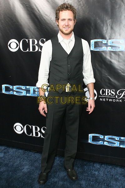 AJ BUCKLEY.CSI NY 100th Episode Party held at The Edison Downtown, Los Angeles, California, USA..November 1st, 2008.full length aj black trousers waistcoat white shirt.CAP/ADM/TC.©T. Conrad/AdMedia/Capital Pictures.