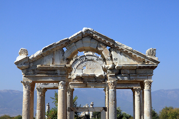Aphrodisias Gateway ruins in Turkey.
