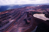 Carajas, Brazil. Huge opencast iron ore mine - largest in the world. Para State.