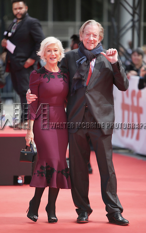 Helen Mirren and Donald Sutherland attends the 'The Leisure Seeker'' premiere during the 2017 Toronto International Film Festival at Roy Thomson Hall on September 9, 2017 in Toronto, Canada.