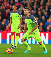 Dejan Lovren of liverpool during the EPL - Premier League match between Crystal Palace and Liverpool at Selhurst Park, London, England on 29 October 2016. Photo by Steve McCarthy.