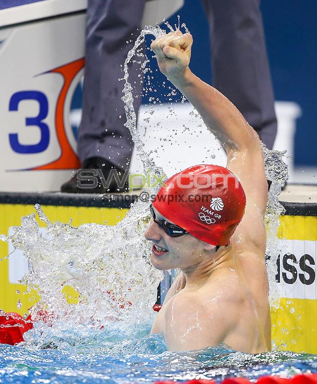Picture by Alex Whitehead/SWpix.com - 26/06/2015 - Baku 2015, 1st European Games - Swimming - Baku Aquatics Centre, Baku, Azerbaijan - Great Britain's Luke Greenbank celebrates winning Gold in then Men's 200m Backstroke Final.