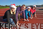 Getting ready for the Goal Mile in Castleisland on Christmas Day from left Aldona Bajek, Denny McSweeny, Betsy Brosnan and Brid Kenny.