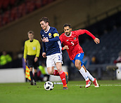 23rd March 2018, Hampden Park, Glasgow, Scotland; International Football Friendly, Scotland versus Costa Rica; Andy Robertson of Scotland goes past Bryan Ruiz of Costa Rica