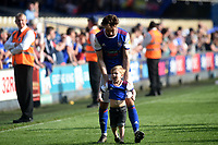 Ipswich Town's Gwion Edwards plays with his son<br /> <br /> Photographer Hannah Fountain/CameraSport<br /> <br /> The EFL Sky Bet Championship - Ipswich Town v Swansea City - Monday 22nd April 2019 - Portman Road - Ipswich<br /> <br /> World Copyright © 2019 CameraSport. All rights reserved. 43 Linden Ave. Countesthorpe. Leicester. England. LE8 5PG - Tel: +44 (0) 116 277 4147 - admin@camerasport.com - www.camerasport.com
