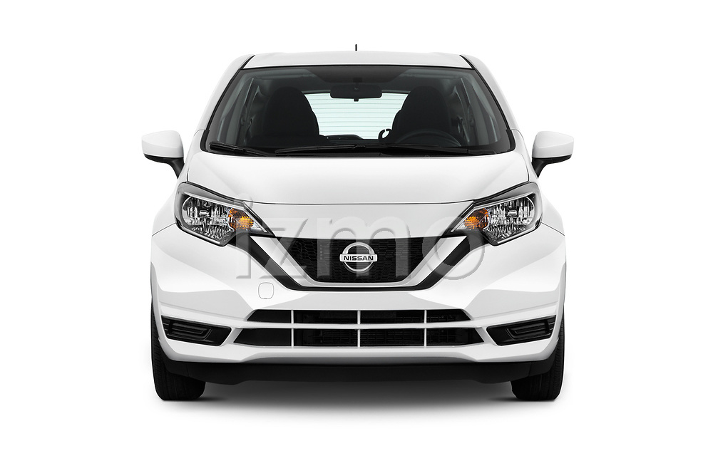 Car photography straight front view of a 2017 Nissan Versa-Note S-Plus 5 Door Hatchback Front View