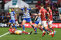 Joey van den Berg of Reading battles for the ball during the Sky Bet Championship match between Bristol City and Reading at Ashton Gate, Bristol, England on 26 December 2017. Photo by Paul Paxford.