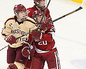 Taylor Wasylk (BC - 9), Michelle Picard (Harvard - 20) - The Boston College Eagles defeated the visiting Harvard University Crimson 3-1 in their NCAA quarterfinal matchup on Saturday, March 16, 2013, at Kelley Rink in Conte Forum in Chestnut Hill, Massachusetts.