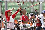 Saori Nagamine (JPN),<br /> AUGUST 5, 2016 - Archery : <br /> Women's Individual Ranking Round <br /> at Sambodromo <br /> during the Rio 2016 Olympic Games in Rio de Janeiro, Brazil. <br /> (Photo by Yusuke Nakanishi/AFLO SPORT)