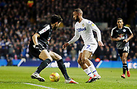 Leeds United's Kemar Roofe takes on Reading's Yakou Meite<br /> <br /> Photographer Rich Linley/CameraSport<br /> <br /> The EFL Sky Bet Championship - Leeds United v Reading - Tuesday 27th November 2018 - Elland Road - Leeds<br /> <br /> World Copyright © 2018 CameraSport. All rights reserved. 43 Linden Ave. Countesthorpe. Leicester. England. LE8 5PG - Tel: +44 (0) 116 277 4147 - admin@camerasport.com - www.camerasport.com