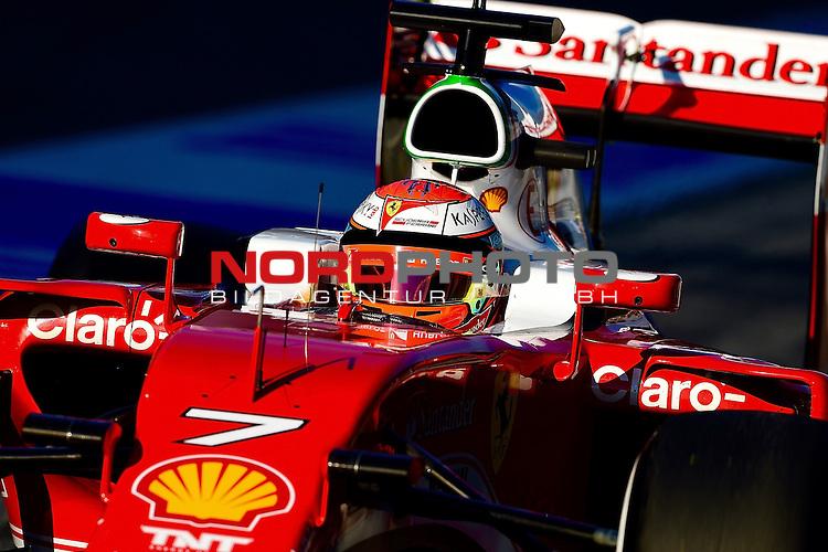 Formel 1 Testfahrten 2016 in Barcelona<br /> Kimi Raikkonen (FIN#7), Scuderia Ferrari<br /> <br /> <br /> Foto &copy; nordphoto /  Bratic
