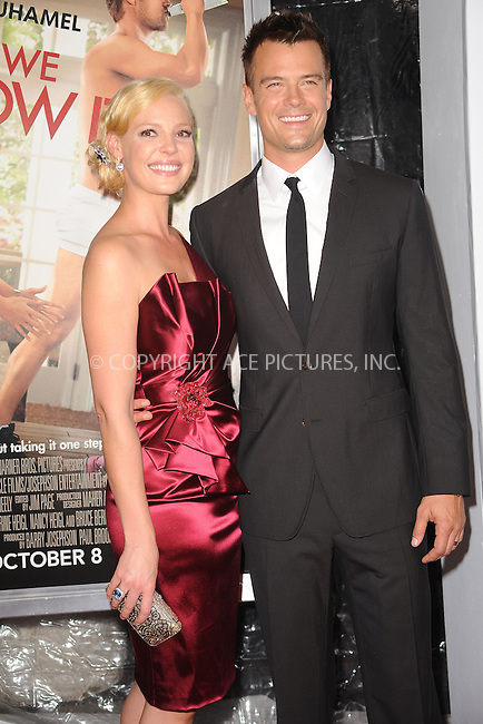 WWW.ACEPIXS.COM . . . . . .September 30 2010, New York City.... Katherine Heigl and Josh Duhamel attend the 'Life As We Know It' premiere at the Ziegfeld Theatre on September 30, 2010 in New York City....Please byline: KRISTIN CALLAHAN - ACEPIXS.COM.. . . . . . ..Ace Pictures, Inc: ..tel: (212) 243 8787 or (646) 769 0430..e-mail: info@acepixs.com..web: http://www.acepixs.com .