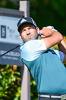 Sergio Garcia (ESP) watches his tee shot on 15 during the round 1 of the Dean &amp; Deluca Invitational, at The Colonial, Ft. Worth, Texas, USA. 5/25/2017.<br /> Picture: Golffile | Ken Murray<br /> <br /> <br /> All photo usage must carry mandatory copyright credit (&copy; Golffile | Ken Murray)