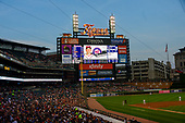 Scoreboard at Comerica Park in Detroit, Michigan as the Washington Nationals play the Detroit Tigers at  on Friday, June 28, 2018.  The Nationals won the game 3 - 1.<br /> Credit: Ron Sachs / CNP